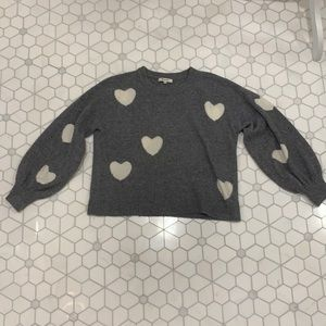 Madewell Heart Dot Balloon-Sleeve Pullover Sweater